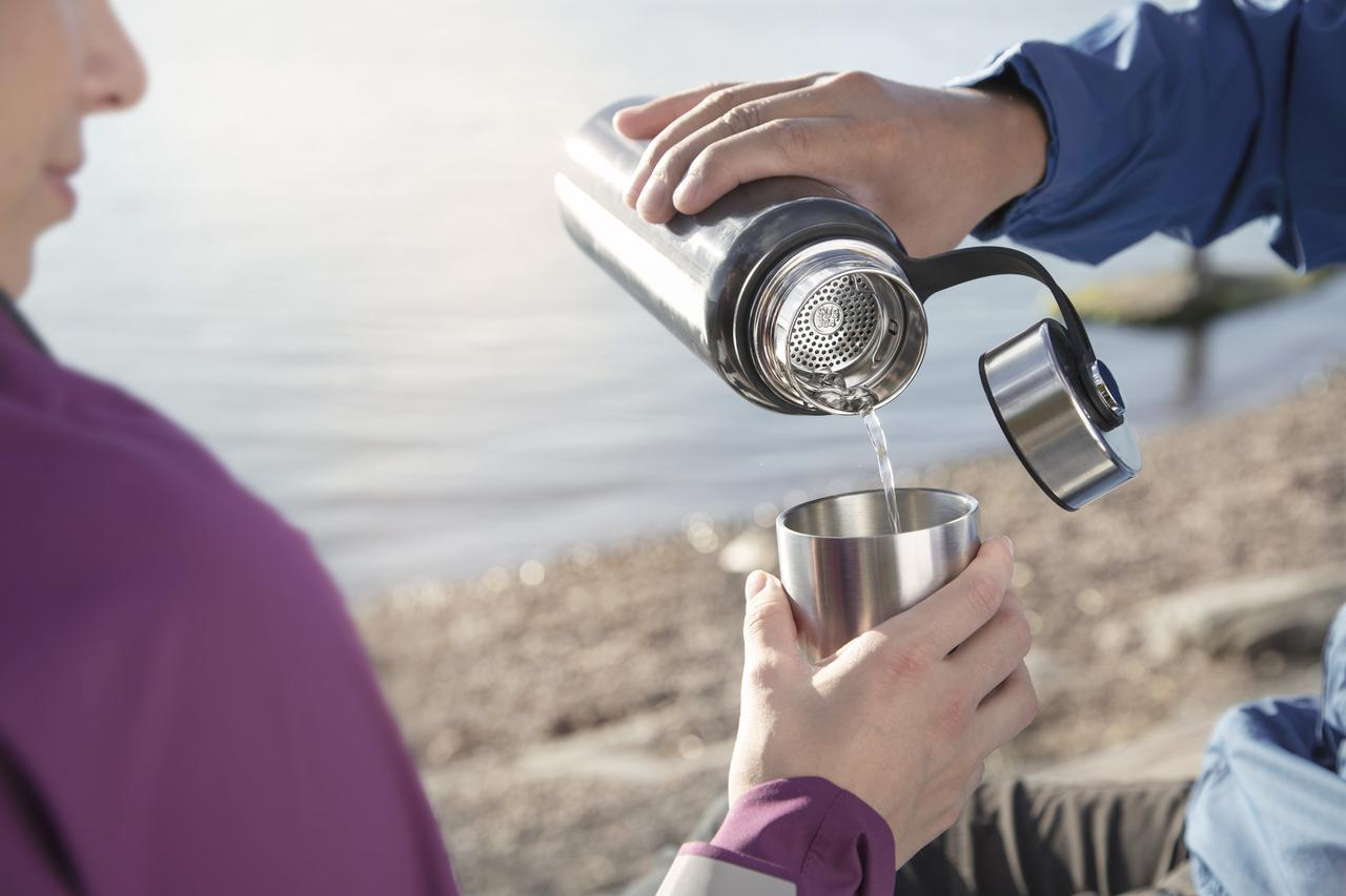 Camping with stainless steel accessories