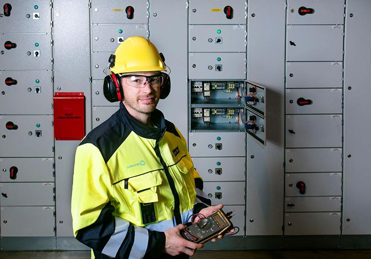 Electrician – Outokumpu employee.