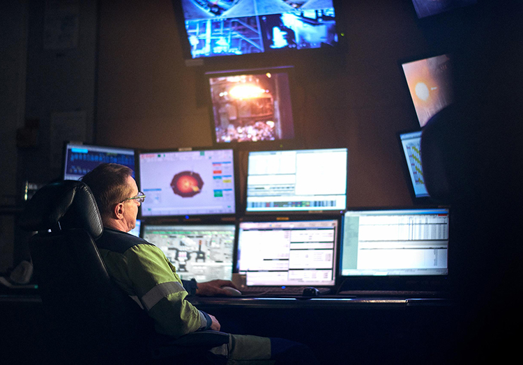 Control room in production