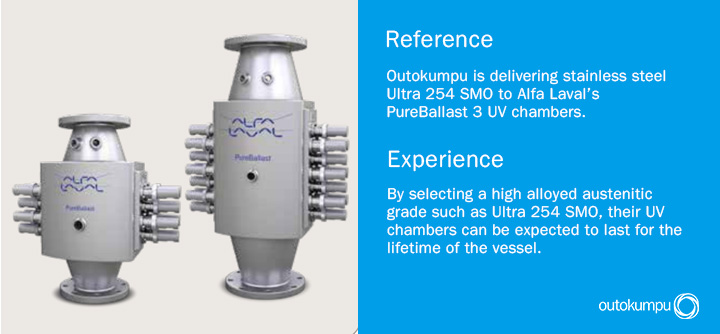 Ballast water treatment system - Alfa Laval reference