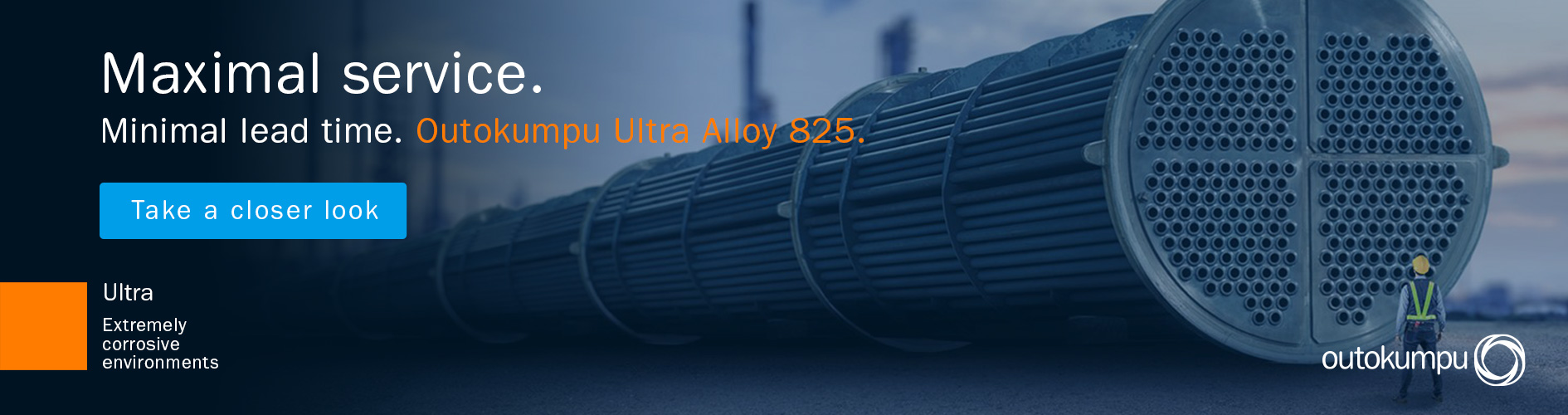 Ultra Alloy 825 campaign banner