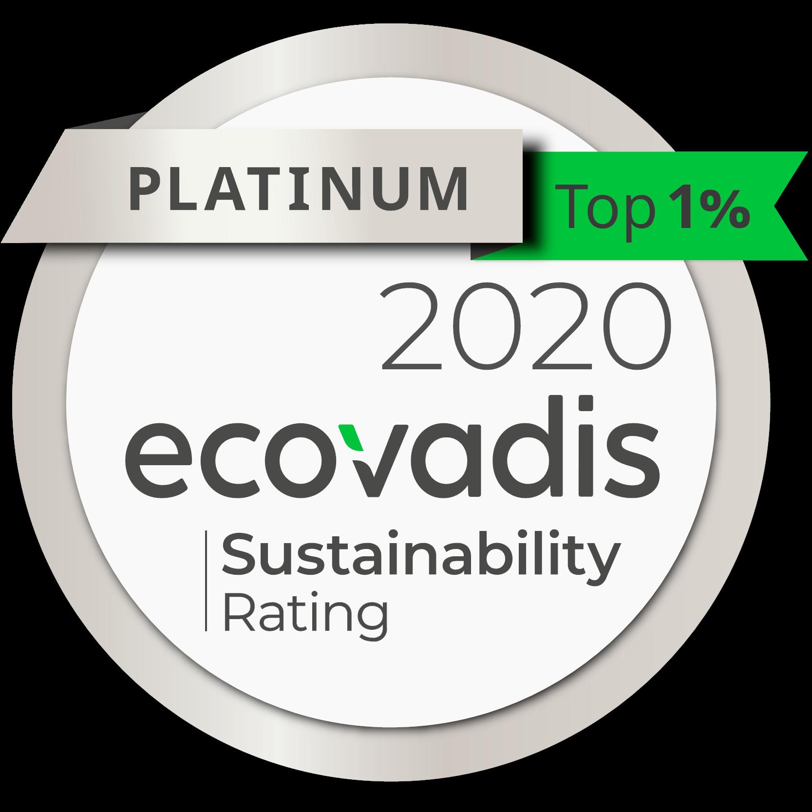 EcoVadis Platinum medal