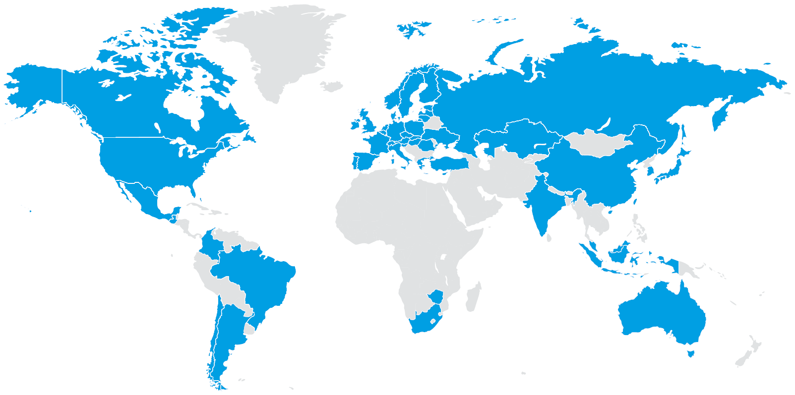Map of supplier countries